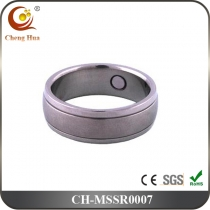 Stainless Steel & Titanium Magnetic Ring MSSR0007
