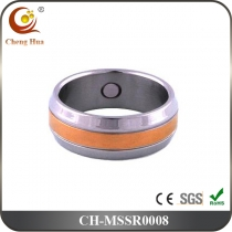 Stainless Steel & Titanium Magnetic Ring MSSR0008