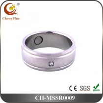 Stainless Steel & Titanium Magnetic Ring MSSR0009