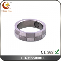 Stainless Steel & Titanium Magnetic Ring MSSR0012