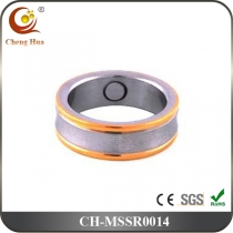 Stainless Steel & Titanium Magnetic Ring MSSR0014
