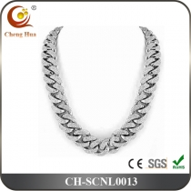 Stainless Steel & Titanium Chain Necklace SCNL0013