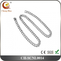 Stainless Steel & Titanium Chain Necklace SCNL0014
