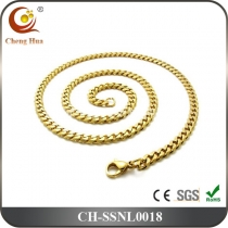 Stainless Steel & Titanium Chain Necklace SCNL0018