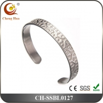 Stainless Steel & Titanium Bangle SSBL0127