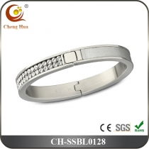 Stainless Steel & Titanium Bangle SSBL0128