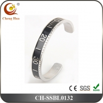Stainless Steel & Titanium Bangle SSBL0132
