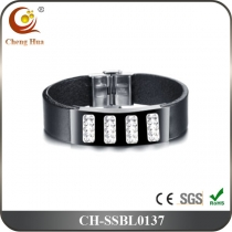 Stainless Steel & Titanium Bangle SSBL0137