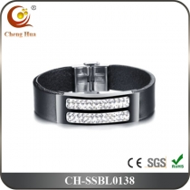 Stainless Steel & Titanium Bangle SSBL0138