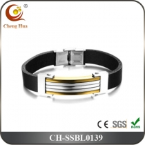 Stainless Steel & Titanium Bangle SSBL0139