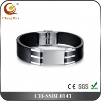 Stainless Steel & Titanium Bangle SSBL0141
