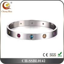 Stainless Steel & Titanium Bangle SSBL0142