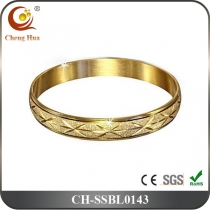 Stainless Steel & Titanium Bangle SSBL0143