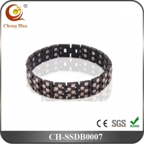 Double Line Men's Magnetic Bracelet SSDB0007