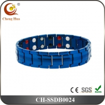 Double Line Mens Magnetic Bracelet SSDB0024