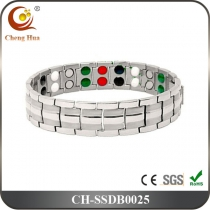 Double Line Mens Magnetic Bracelet SSDB0025