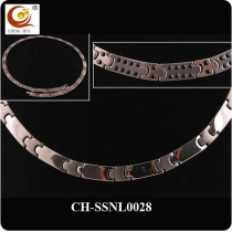 Stainless Steel & Titanium Magnetic Necklace SSNL0028