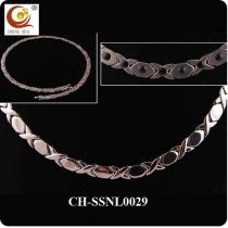 Stainless Steel & Titanium Magnetic Necklace SSNL0029
