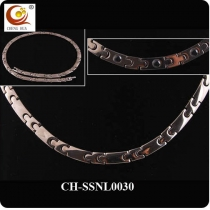 Stainless Steel & Titanium Magnetic Necklace SSNL0030