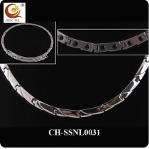 Stainless Steel & Titanium Magnetic Necklace SSNL0031