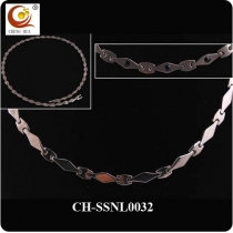 Stainless Steel & Titanium Magnetic Necklace SSNL0032