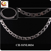 Stainless Steel & Titanium Magnetic Necklace SSNL0034
