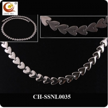 Stainless Steel & Titanium Magnetic Necklace SSNL0035