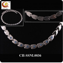 Stainless Steel & Titanium Magnetic Necklace SSNL0036