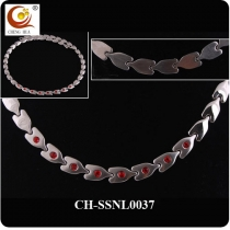 Stainless Steel & Titanium Magnetic Necklace SSNL0037