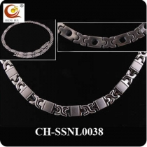 Stainless Steel & Titanium Magnetic Necklace SSNL0038
