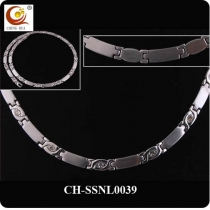 Stainless Steel & Titanium Magnetic Necklace SSNL0039