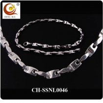 Stainless Steel & Titanium Magnetic Necklace SSNL0046
