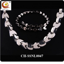 Stainless Steel & Titanium Magnetic Necklace SSNL0047