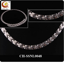 Stainless Steel & Titanium Magnetic Necklace SSNL0048