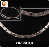 Stainless Steel & Titanium Magnetic Necklace SSNL0051