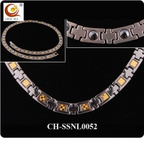 Stainless Steel & Titanium Magnetic Necklace SSNL0052