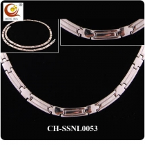 Stainless Steel & Titanium Magnetic Necklace SSNL0053