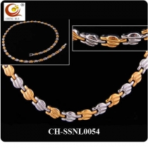 Stainless Steel & Titanium Magnetic Necklace SSNL0054
