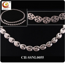 Stainless Steel & Titanium Magnetic Necklace SSNL0055