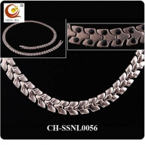 Stainless Steel & Titanium Magnetic Necklace SSNL0056