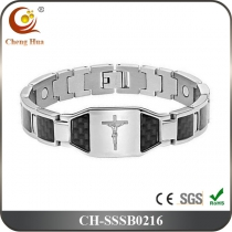 Single Line Mens Magnetic Bracelet SSSB0216